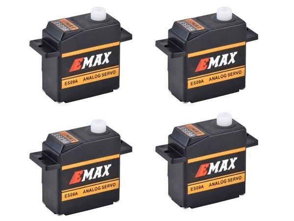 4x Emax ES09A Micro Mini Servo 11,6g 0,09s 2,4kg mit Kugellager ES08A