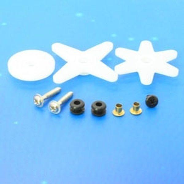 Ersatz Ruderhörner und Schrauben für Emax ES3103 Servo