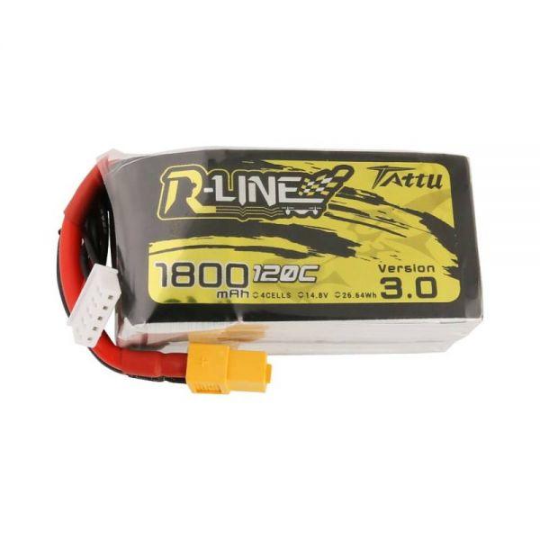 Gens Ace TATTU R-Line 3.0 LiPo Akku 4S 1800mAh 14,8V 120C FPV Racing