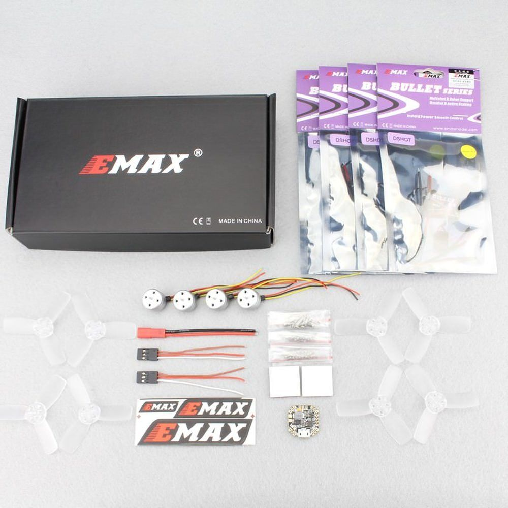 Emax Micro FPV Racing Set RS1104 6A Bullet, Skyline F3 Femto, T2345