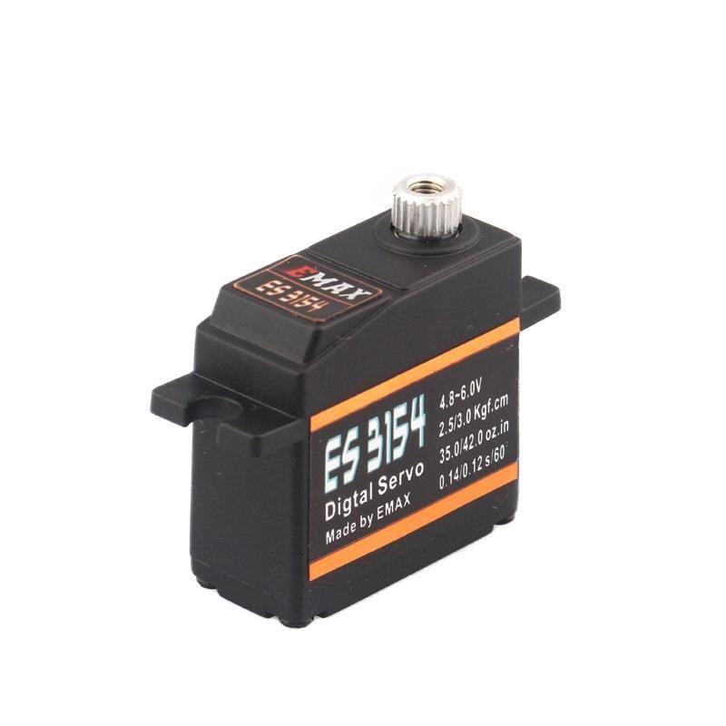 Emax ES3154 Digital Metall Mini Servo 17g 3.0kg 0,12sec 4,8V-6V BB Kugellager