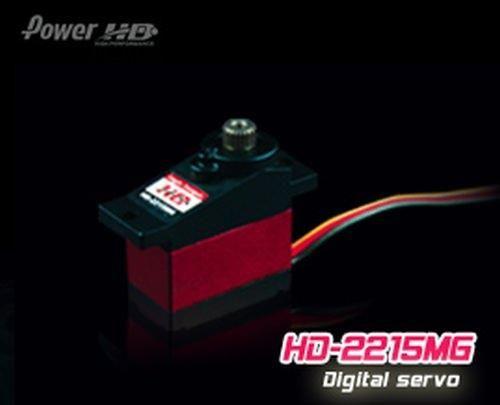 PowerHD HD-2215MG Mini Digital Metallgetriebe Servo 13,5g 2.2kg 0,10sec 4,8V-6V