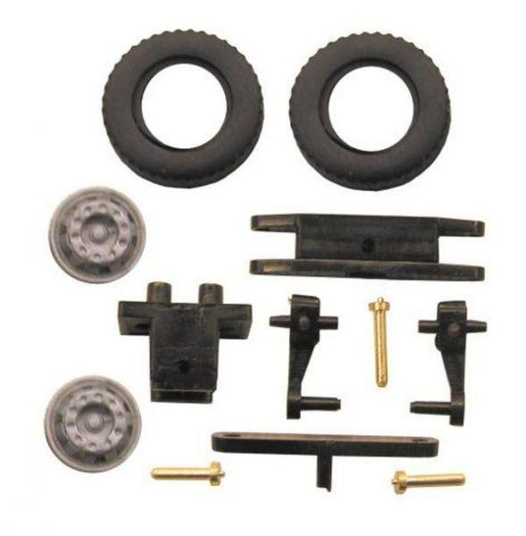 Lenkungsteilesatz für 1:87 LKW mit Reifen und Felgen H0 LRCB