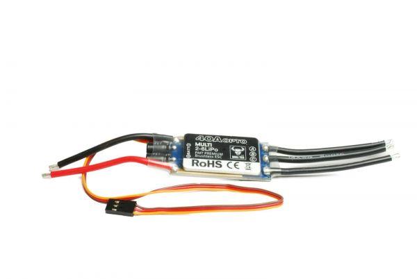 BULL TEC Multicopter Brushless Regler 40A 2S - 6S Lipo OPTO BLHeli
