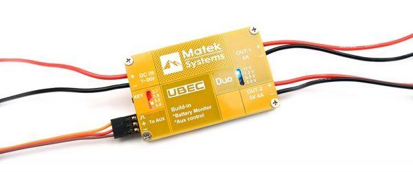 Matek UBEC Duo 4A 5V-12V schaltbar +4A 5V BEC für 2S-6S Lipo