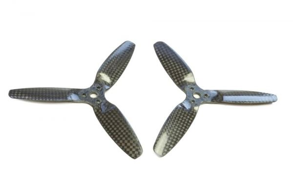 5x4 3-Blatt Propeller Carbon Fiber 1x CCW 1x CW Multicopter Luftschraube 5042