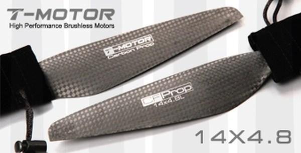 T-Motor 14x4.8 Carbon Fiber Propeller 1x CW 1x CCW MN Tiger Multicopter