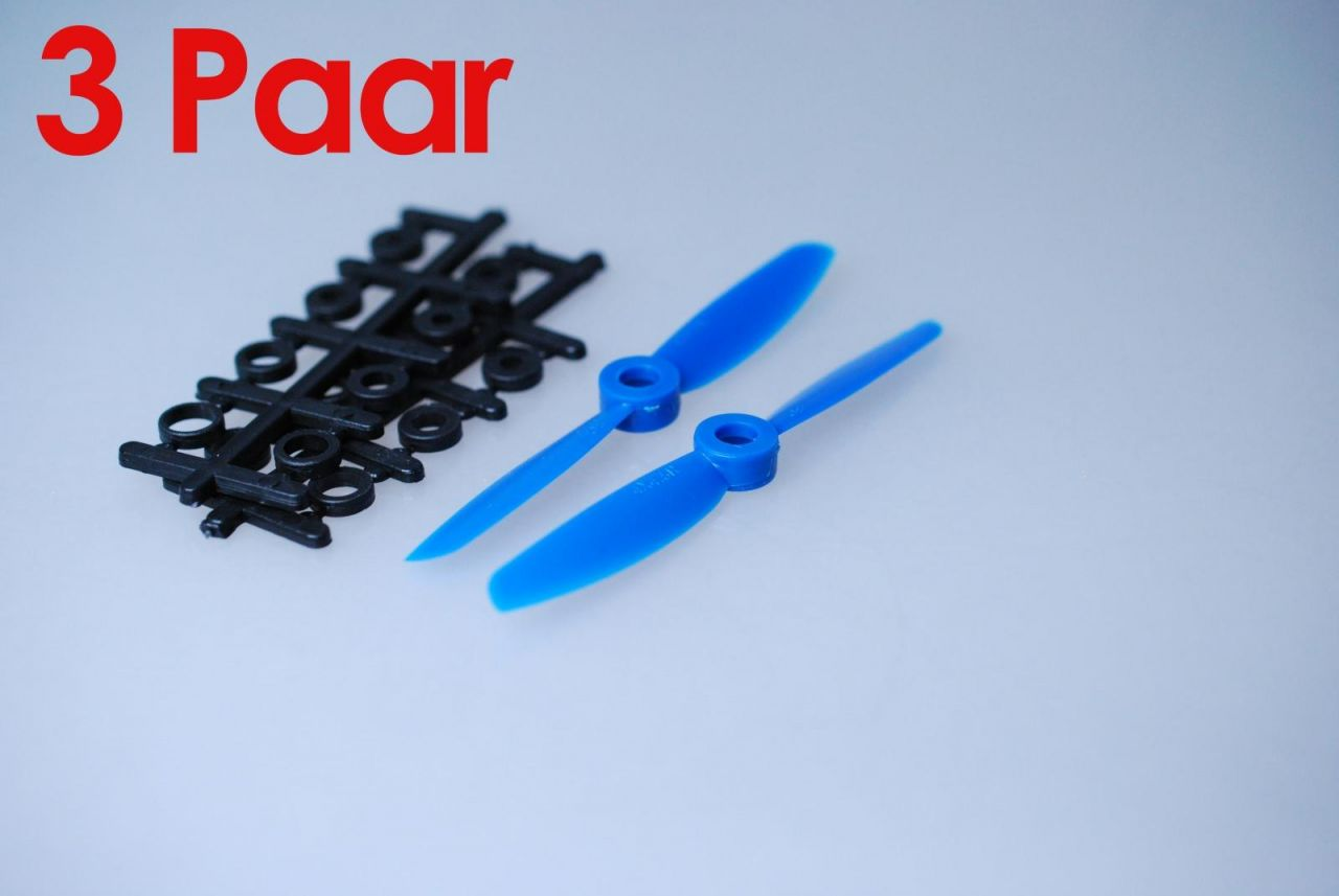 3x Paar 4x4,5 Blau CCW + CW Propeller Quadrocopter rechts + links drehend