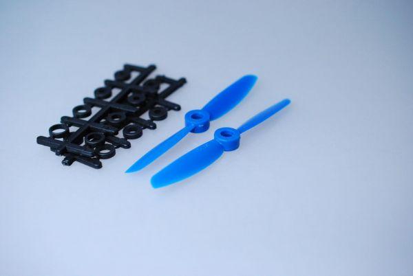 1x Paar 4x4,5 Blau CCW + CW Propeller Quadrocopter rechts + links drehend
