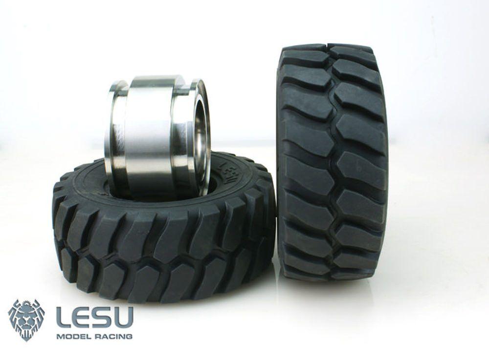 Lesu Kompletträder für eine Radladerachse 2x Felgen 2x Reifen RD-B001