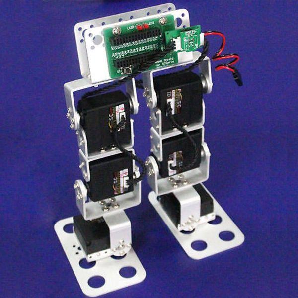 Feetech 6DOF Metall Digital Smart Control Servo Robotik Alu Biped für Arduino