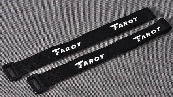 Tarot 500 Klettband schwarz 280mm x 20mm (2 Stück)