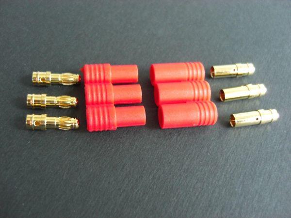 1x Paar 3,5mm Goldstecker 3er f. Brushless Motor Regler