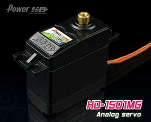 PowerHD HD-1501MG Metallgetriebe Servo 63g 17.0kg 0,14sec 4,8V-6V BB
