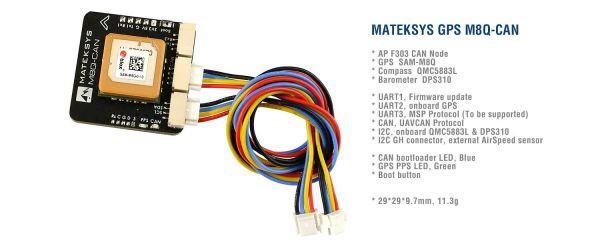 Matek M8Q-CAN Ublox GPS und Kompass Modul M8Q CAN BUS